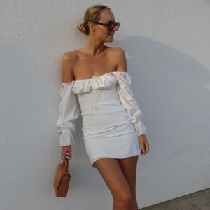 NEW With Jean Emi White Dress, Small